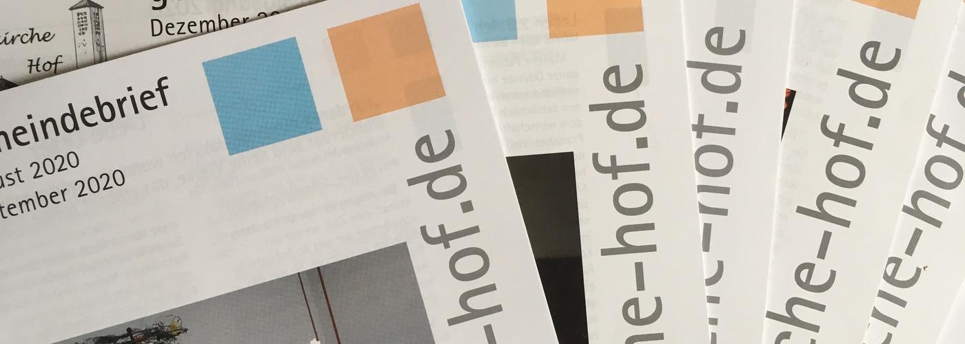 Der Gemeindebrief erscheint im quadratischen Format in 2monatiger Ausgabe