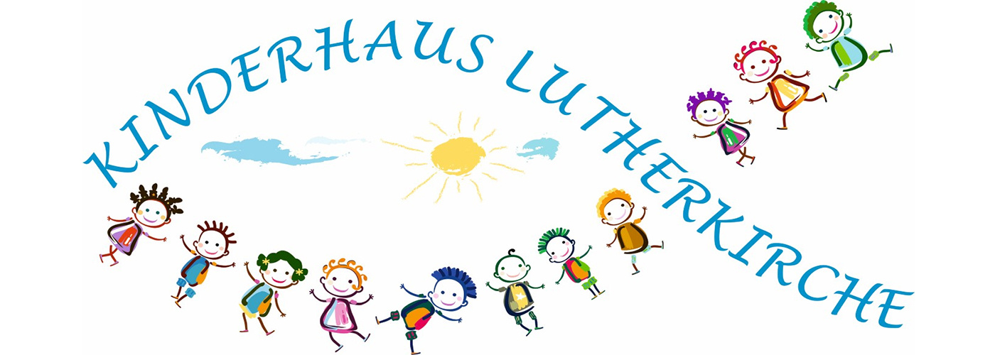 Das Logo des Kinderhauses in Fischform mit Kindern in Clipart